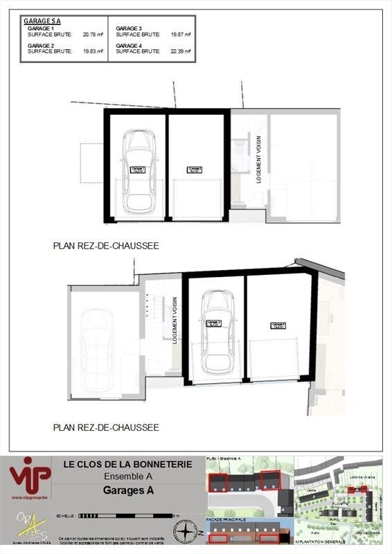 Garage pour 1 voiture avec porte manuelle de 20 m², situé dans un charmant clos résidentiel au centre-ville. 069/67.27.70