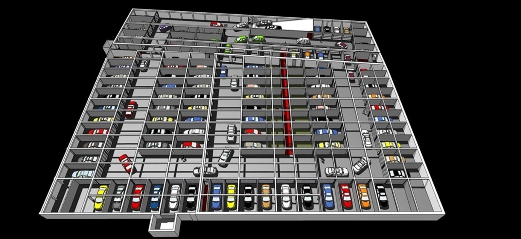Garages de luxe à vendre situés à la Rue du Nouveau Monde à Mouscron : nombreuses prestations telles que la vidéo surveillance, prise de courant dans le garage, système d'éclairage led automatique, porte motorisée, nettoyage hebdomadaire....A partir de 21 700€ . Tél : 056/55 40 00