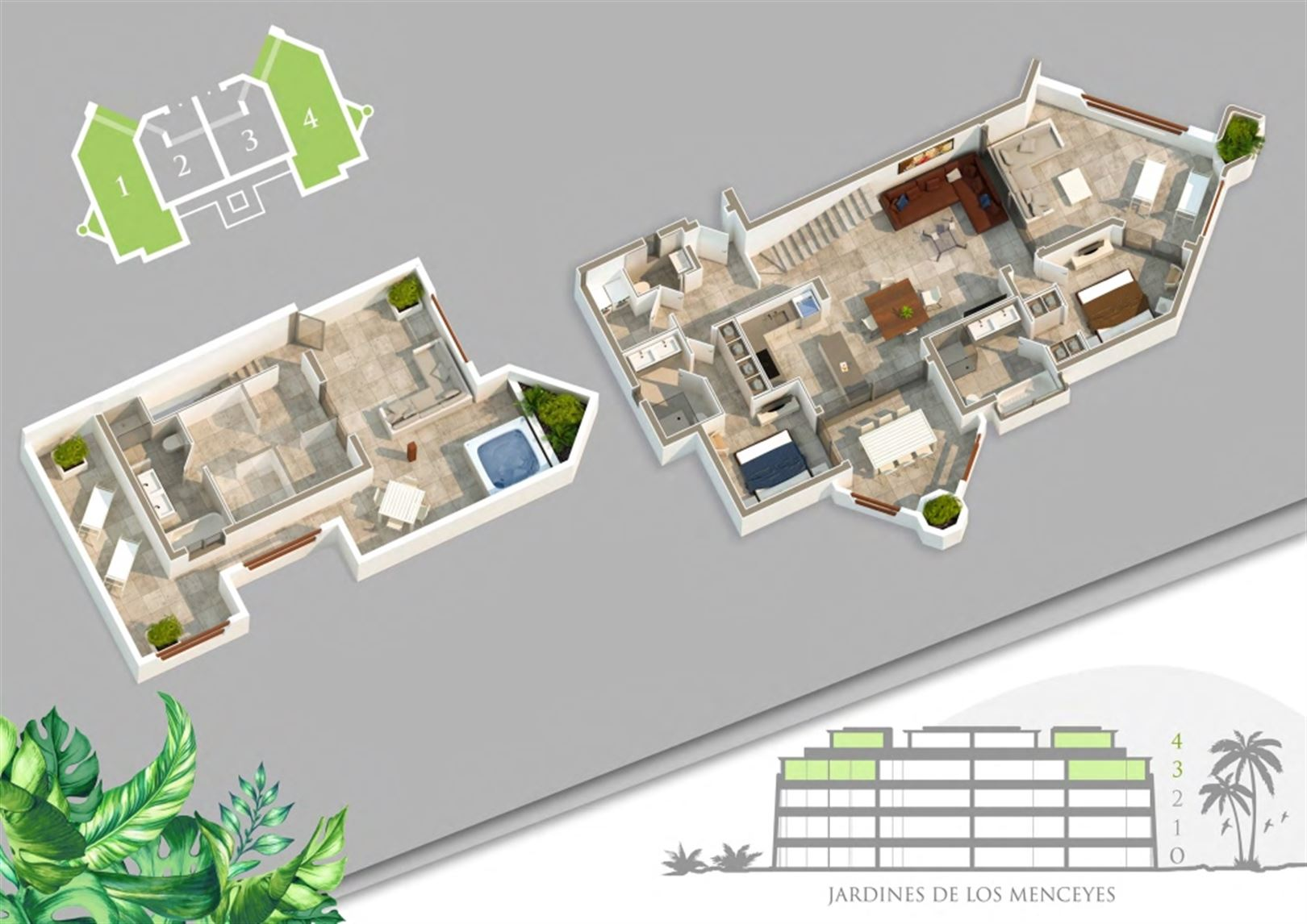 Foto 11 : Appartement te  ARONA - PALM MAR (Spanje) - Prijs Prijs op aanvraag