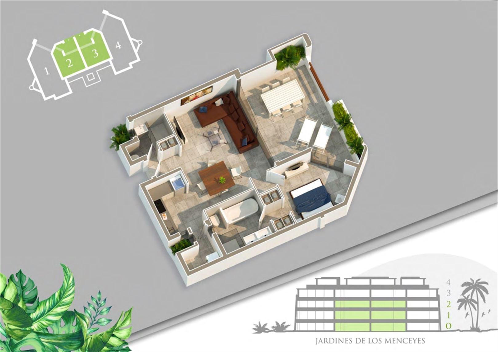Foto 5 : Appartement te  ARONA - PALM MAR (Spanje) - Prijs Prijs op aanvraag