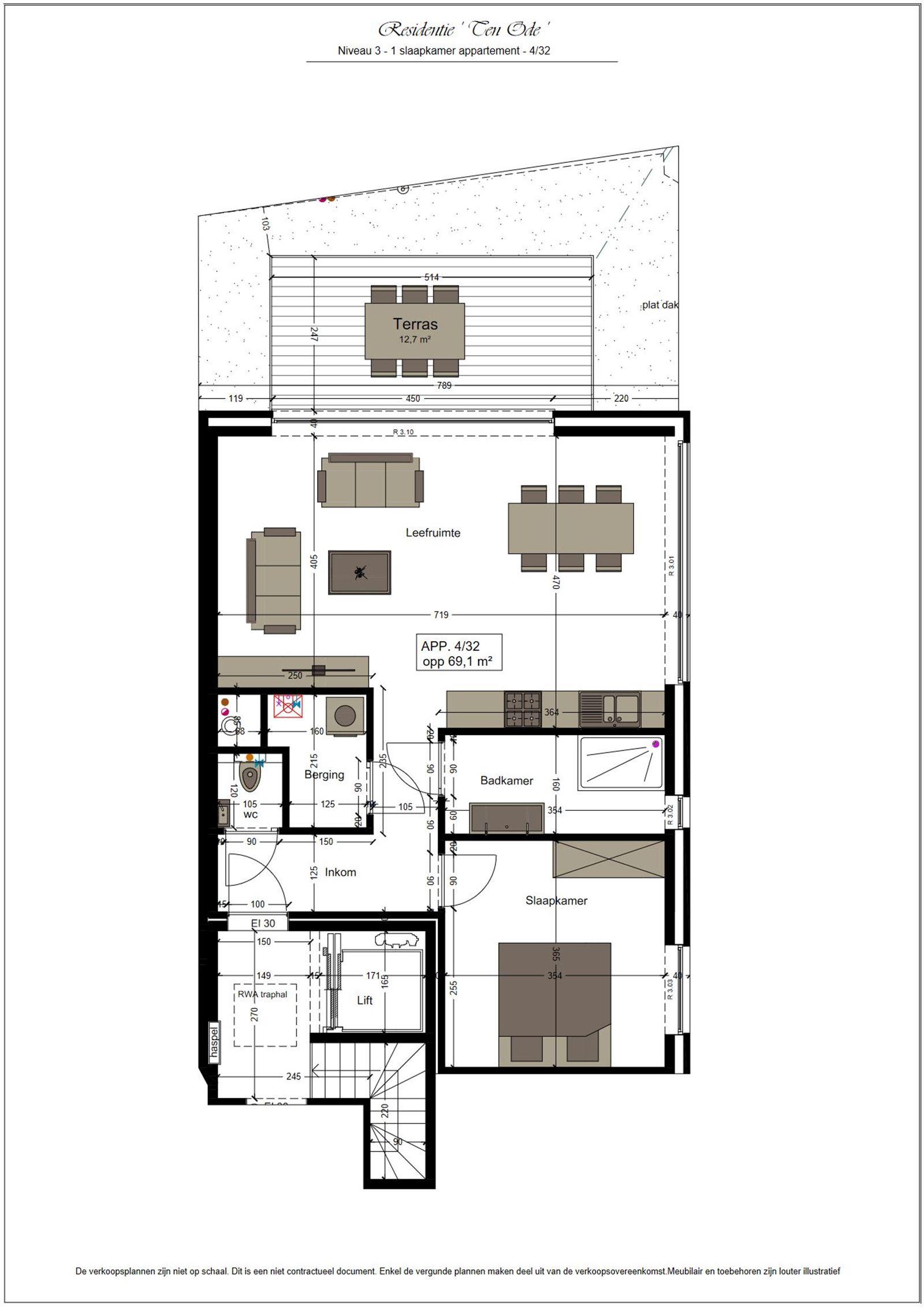 FOTO'S 1 : Appartement te 1500 HALLE (België) - Prijs € 219.900