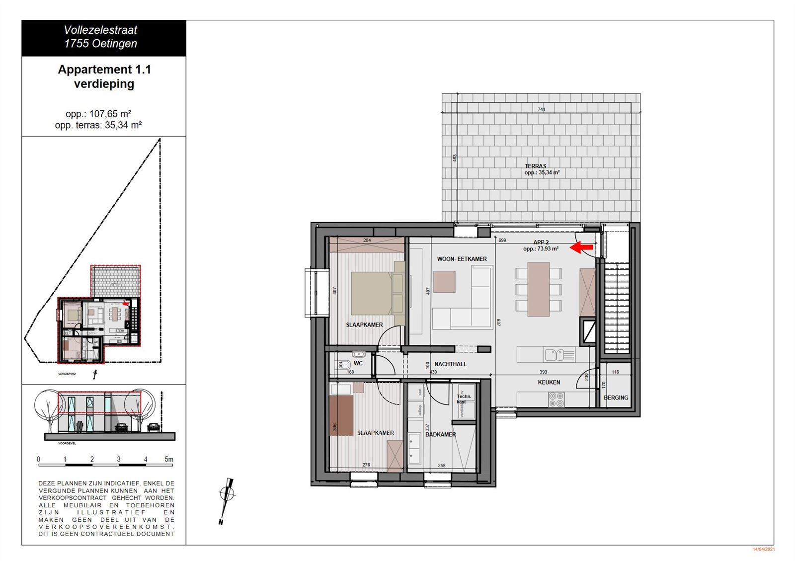 FOTO'S 4 : Appartement te 1755 OETINGEN (België) - Prijs € 289.000