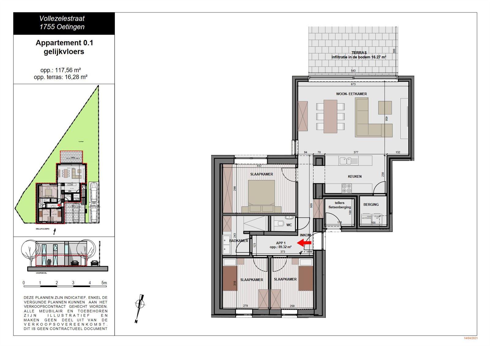 FOTO'S 3 : Appartement te 1755 OETINGEN (België) - Prijs € 369.000