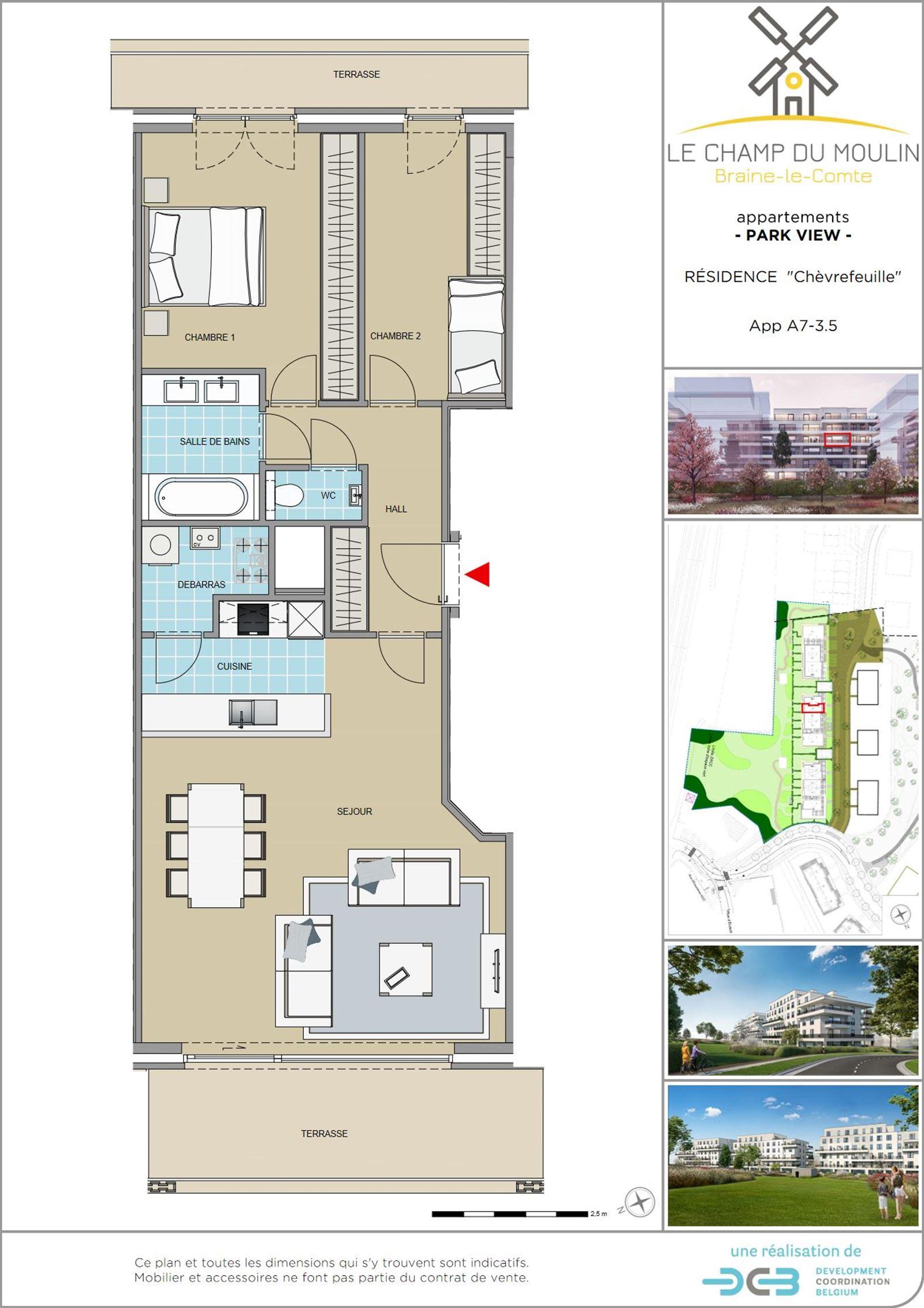 FOTO'S 1 : Appartement te 7090 BRAINE-LE-COMTE (België) - Prijs € 215.900