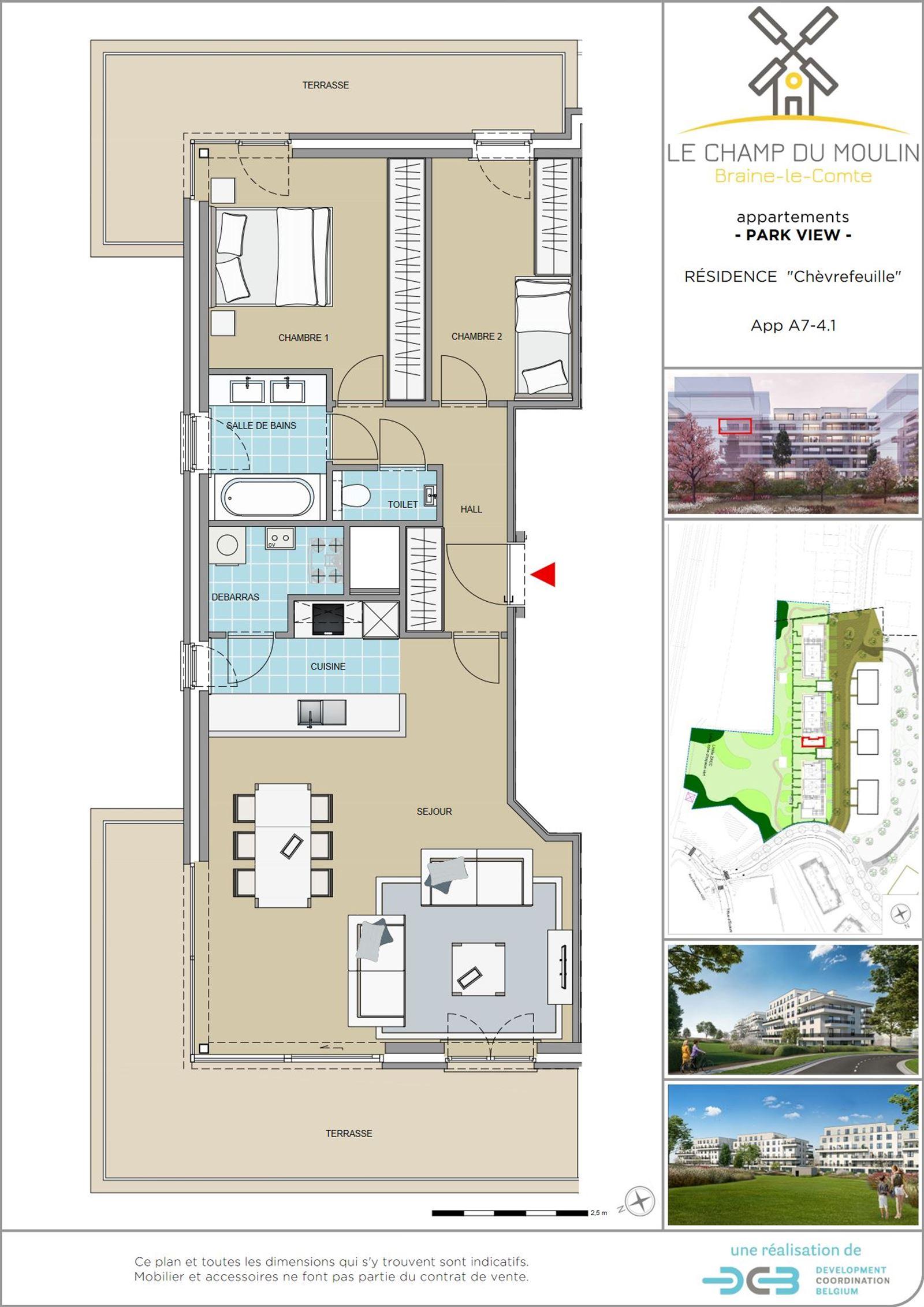 FOTO'S 1 : Appartement te 7090 BRAINE-LE-COMTE (België) - Prijs € 240.900