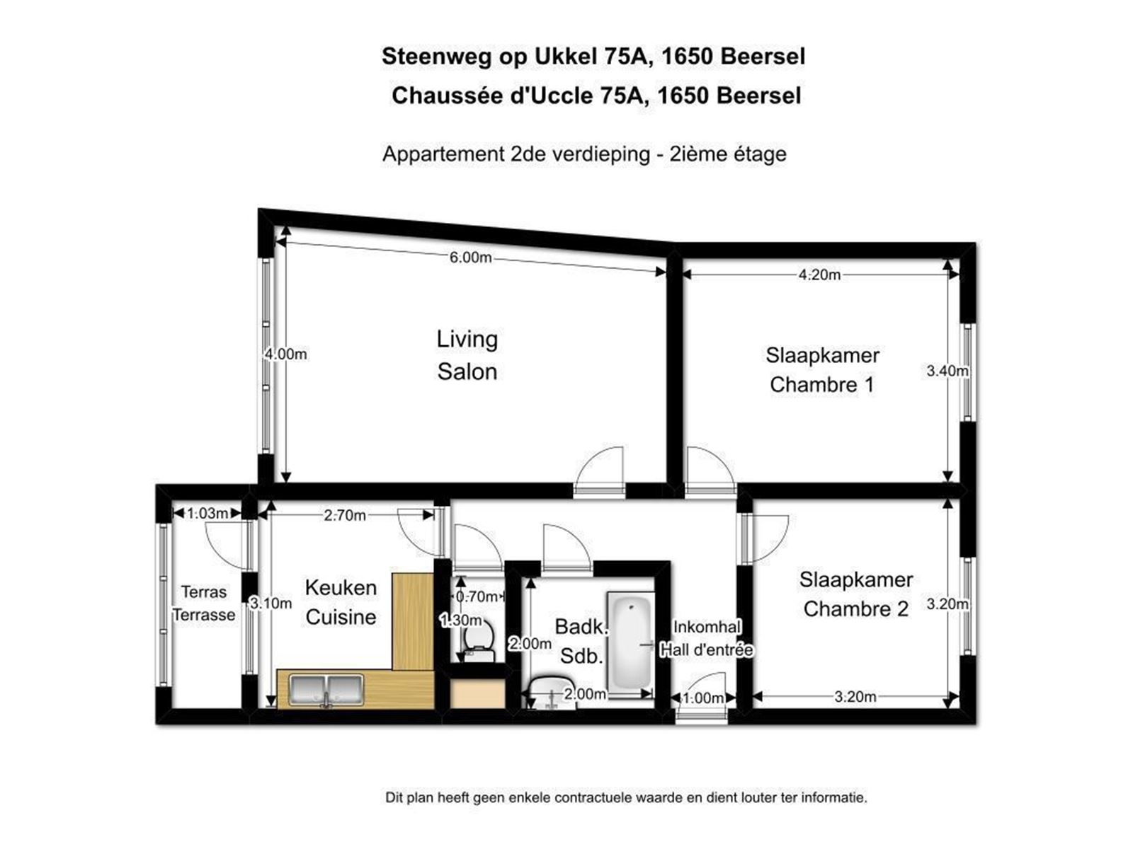FOTO'S 4 : Appartement te 1180 UKKEL (België) - Prijs € 259.000