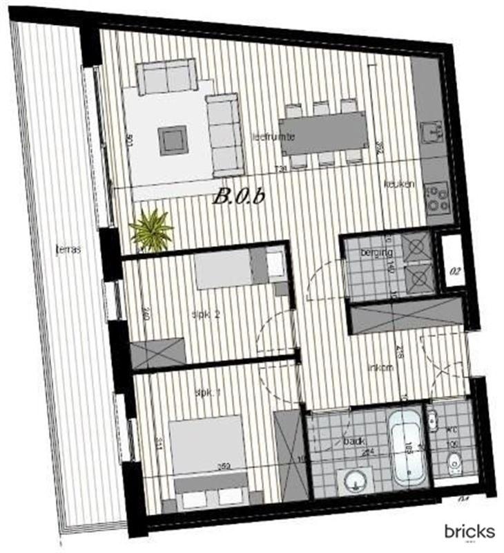 Foto 15 : Nieuwbouw appartement te 9300 AALST (België) - Prijs € 805