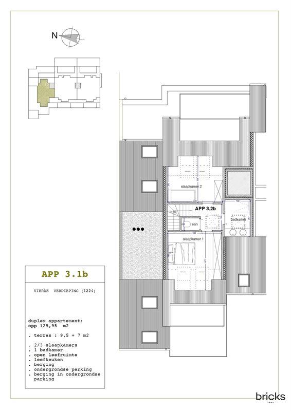 Foto 5 : Nieuwbouw appartement te 9300 AALST (België) - Prijs € 362.350