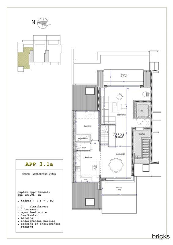Foto 4 : Nieuwbouw appartement te 9300 AALST (België) - Prijs € 362.350