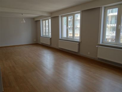 TE HUUR OP JAARBASIS - ruim appartement in het hartje van Nieuwpoort Bad - grote living - open ingerichte keuken - ingerichte badkamer met combinatie ...