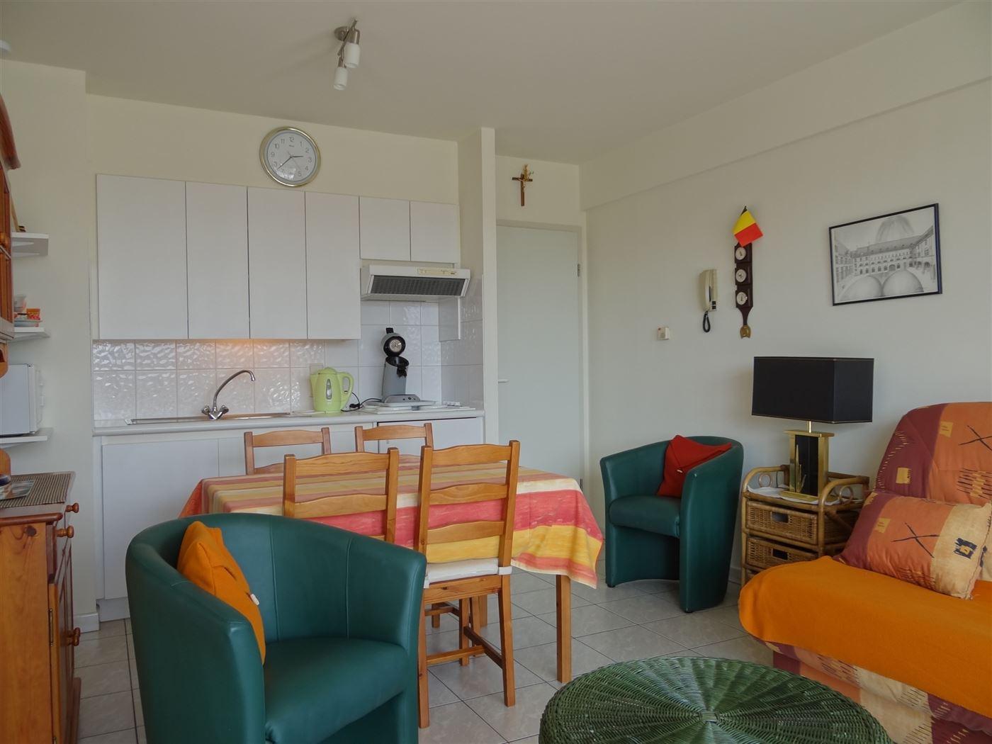 Res. Panorama B 0101 - Gezellige zonnige studio met slaaphoek - Gelegen op de eerste verdieping - Inkom met ruime slaaphoek - Leefruimte met open keuk...