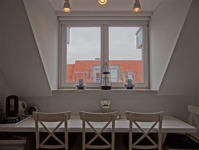 Res. Cézanne 0601 - Uiterst zonnig dakappartement met slaapkamer - Instapklaar en gelegen op de zesde verdeiping - Leefruimte met terras - Open geïn...