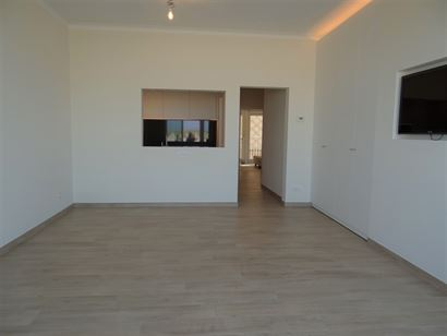 TE HUUR OP JAARBASIS - ongemeubeld - volledig gerenoveerd appartement - frontaal zeezicht - gelegen op het gelijkvloers - ruime woonkamer met aparte k...