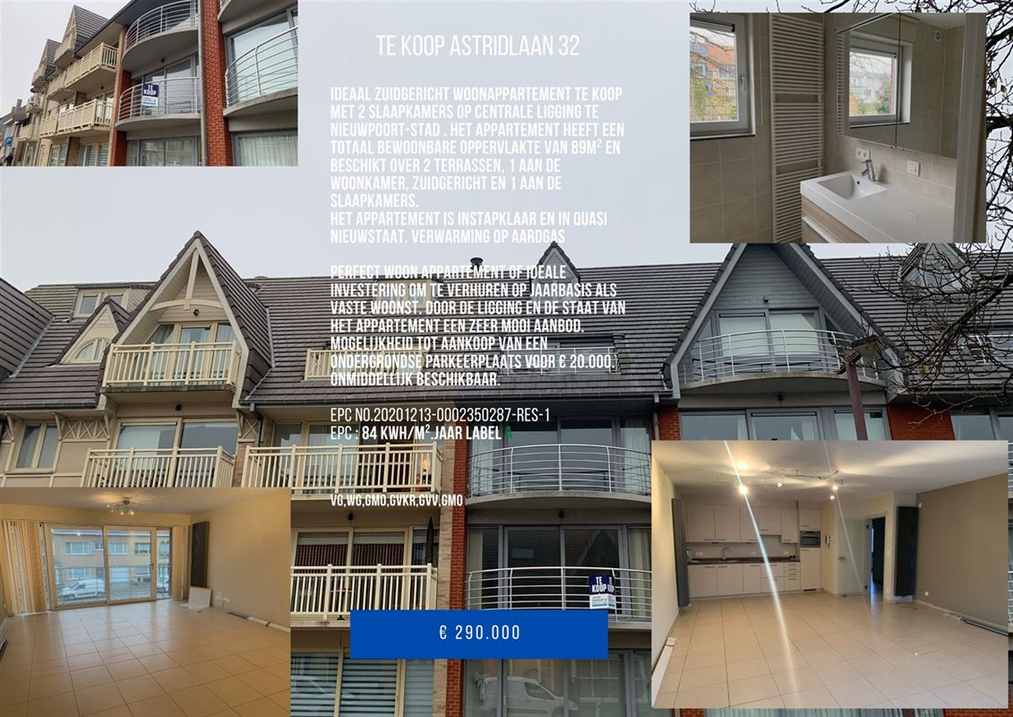 Foto 1 : Appartement te 8620 NIEUWPOORT (België) - Prijs € 310.000