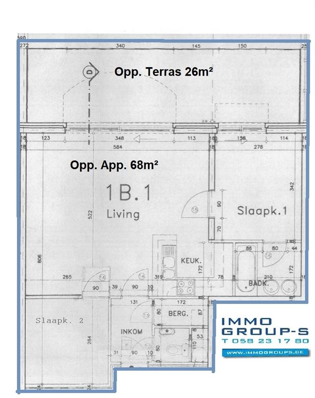 Foto 21 : Appartement te 8620 NIEUWPOORT (België) - Prijs € 285.000