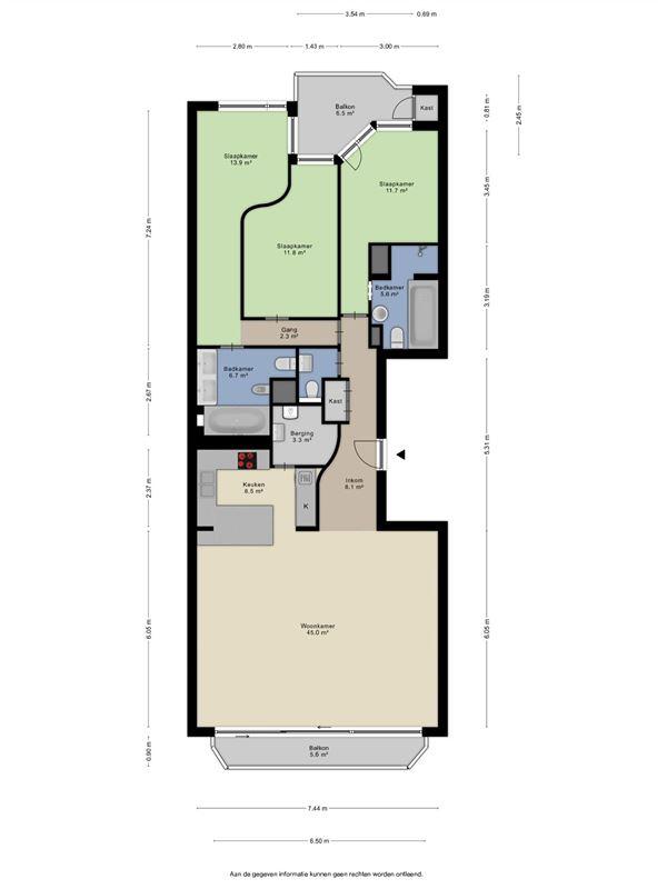 Foto 4 : Appartement te 8300 KNOKKE (België) - Prijs € 1.650.000