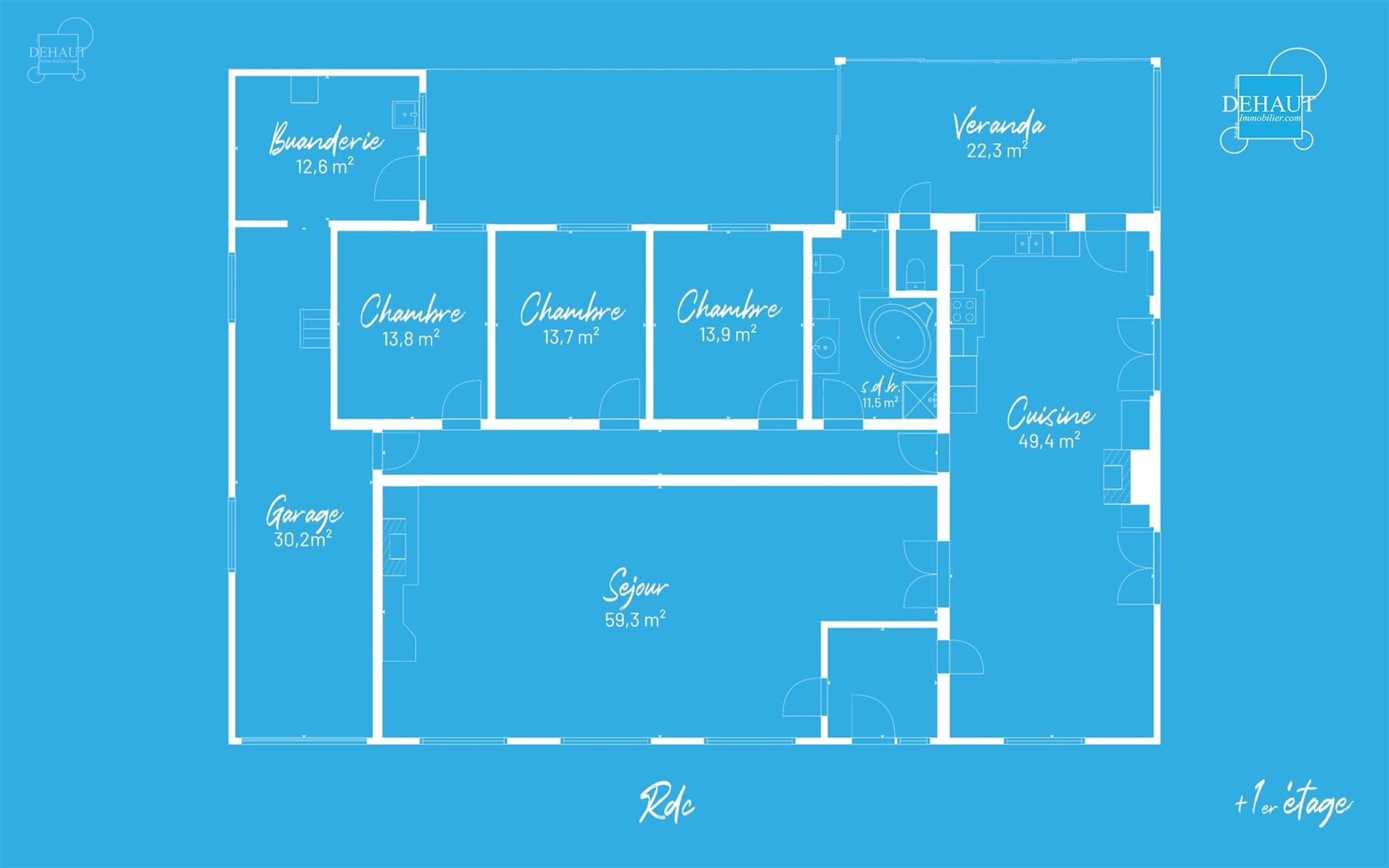 Charmante maison individuelle en semi plain-pied idéalement située en campagne et comprenant de beaux volumes. Un hall d'entrée desservant un large...