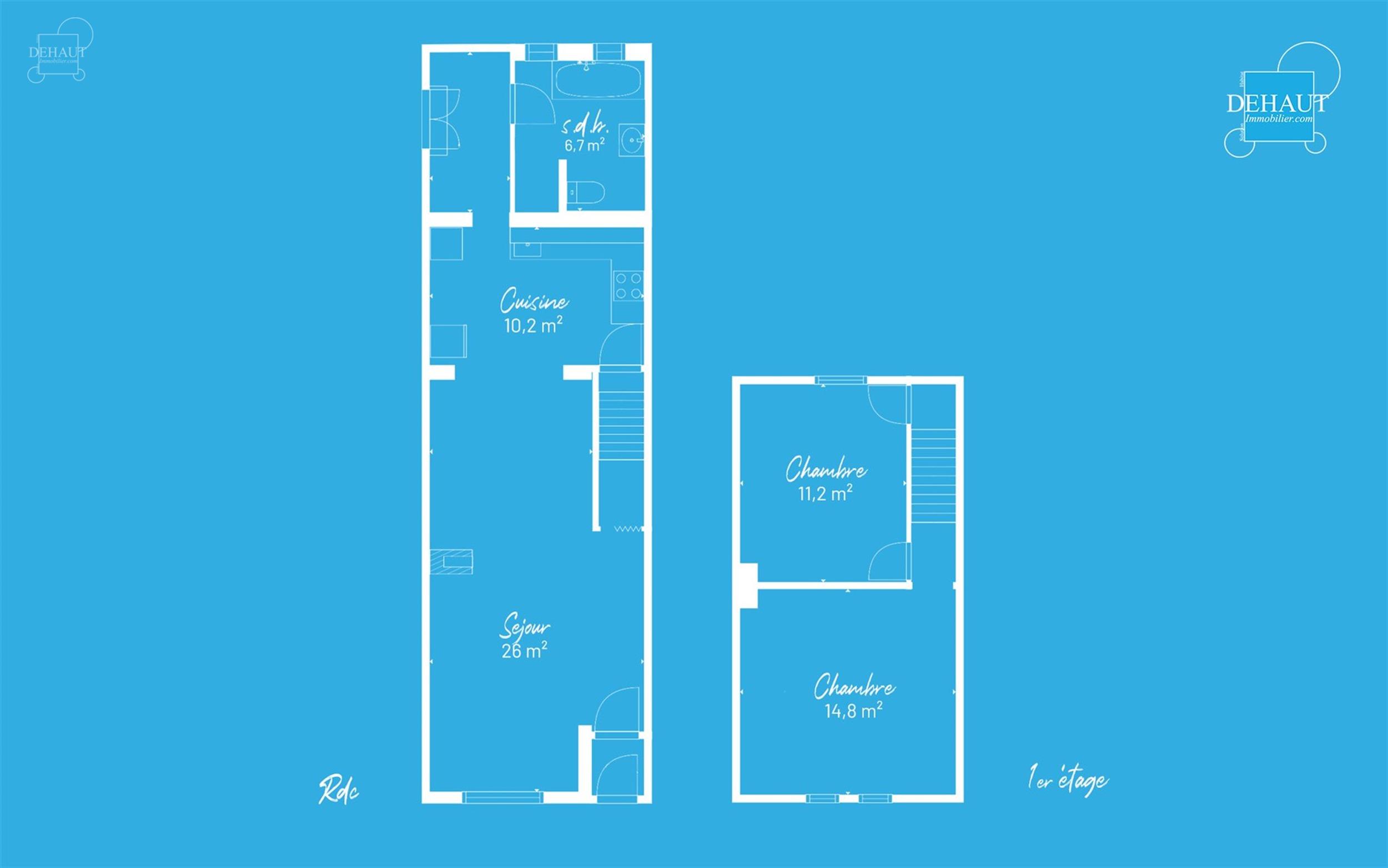 Maison de ville avec grand jardin comprenant au rez-de-chaussée : un séjour d'env. 26m², une cuisine semi-équipée, une salle de bain (à rénover...