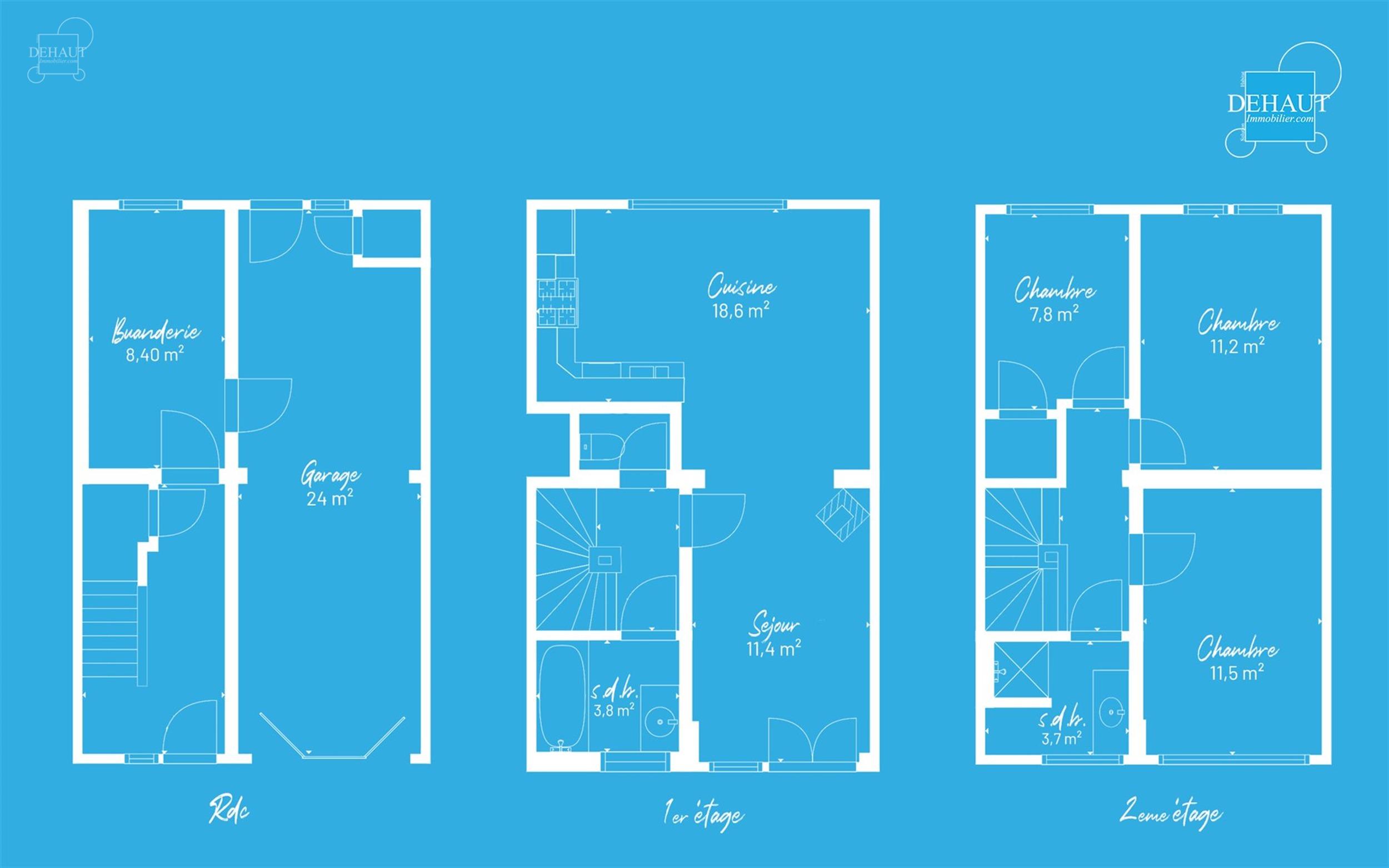 Jolie maison bel-étage située à 2 pas du centre-ville proposant 3 chambres, 2 salles de bains, un jardin et un garage! Bel et lumineux espace de v...