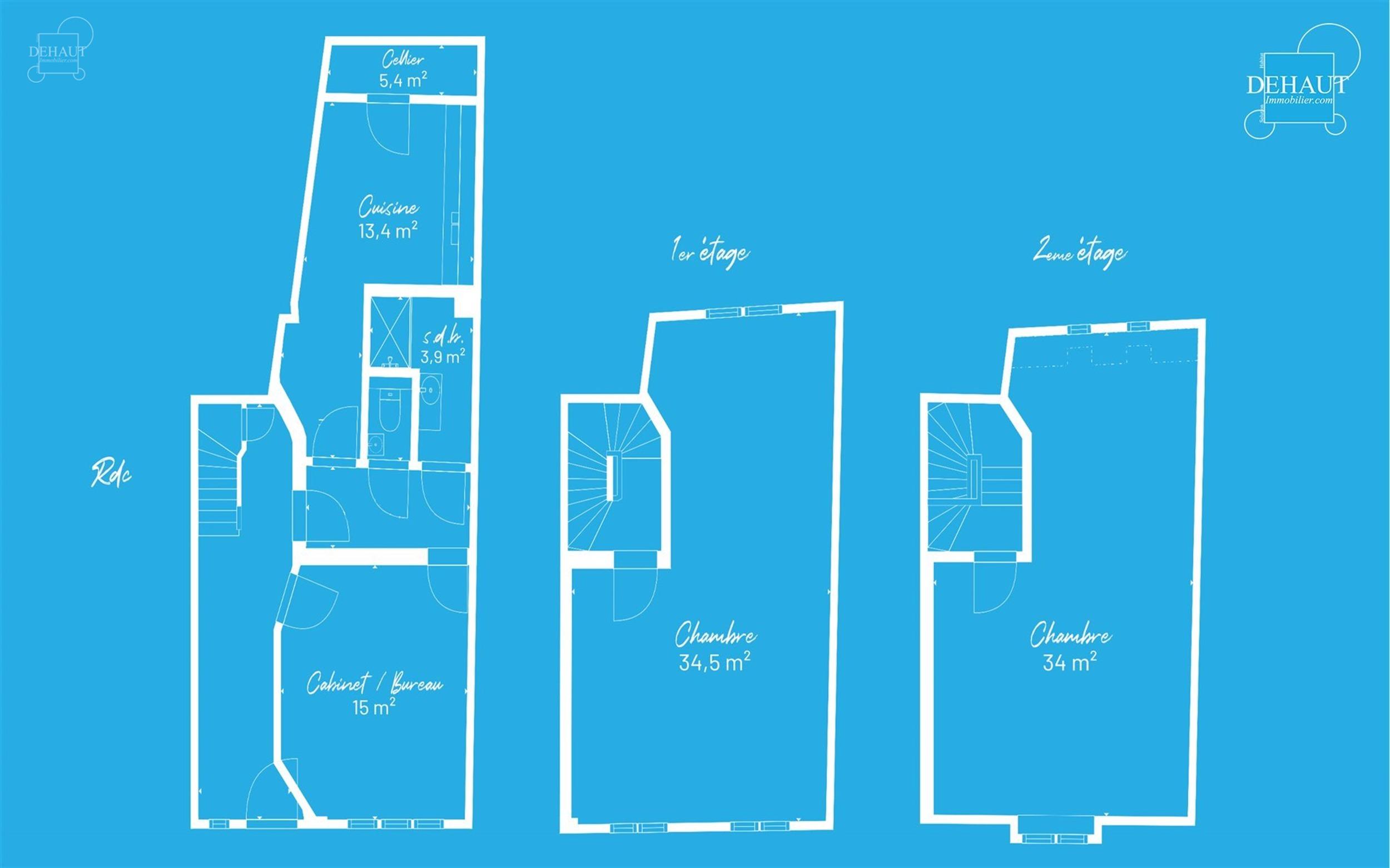 Immeuble en plein centre du village de WARNETON sur une parcelle d'env. 60m² de terrain. Au RDC, hall d'entrée desservant un bureau ou salon d'env....