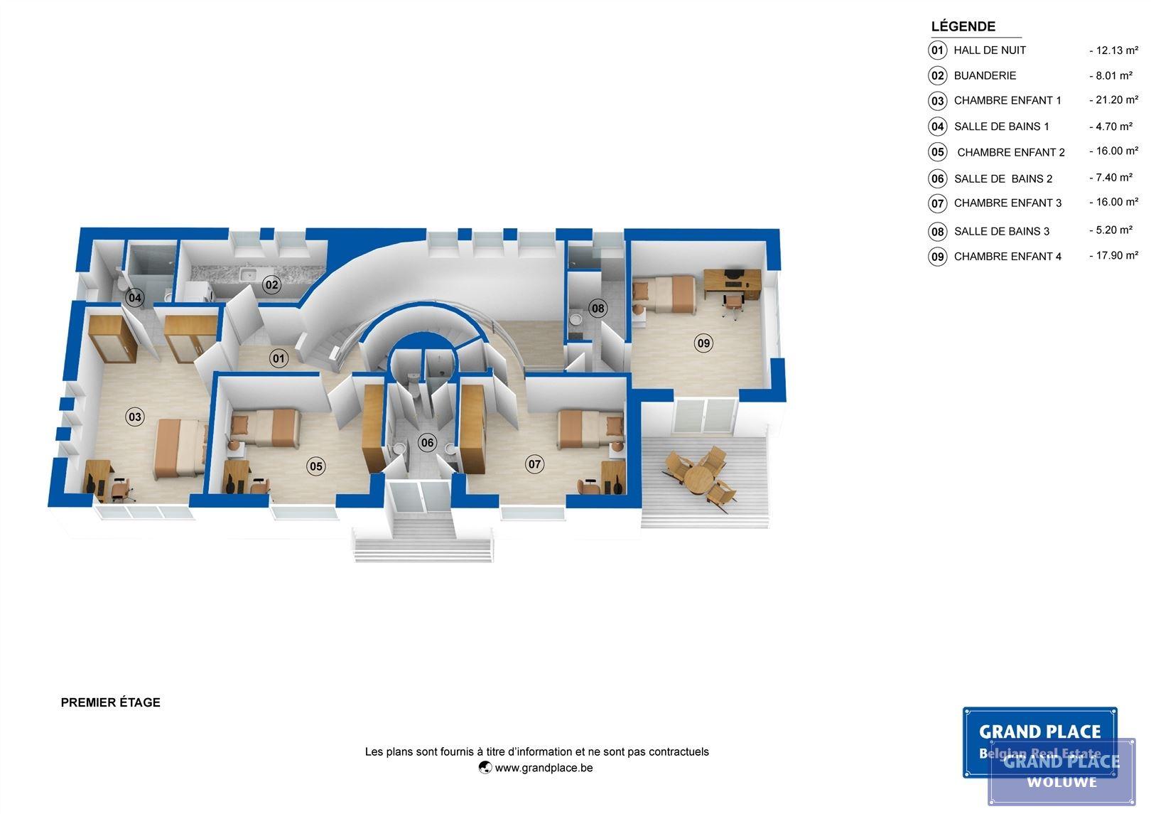 Image 15 : Villa contemporaine à 1150 WOLUWÉ-SAINT-PIERRE (Belgique) - Prix 1.875.000 €
