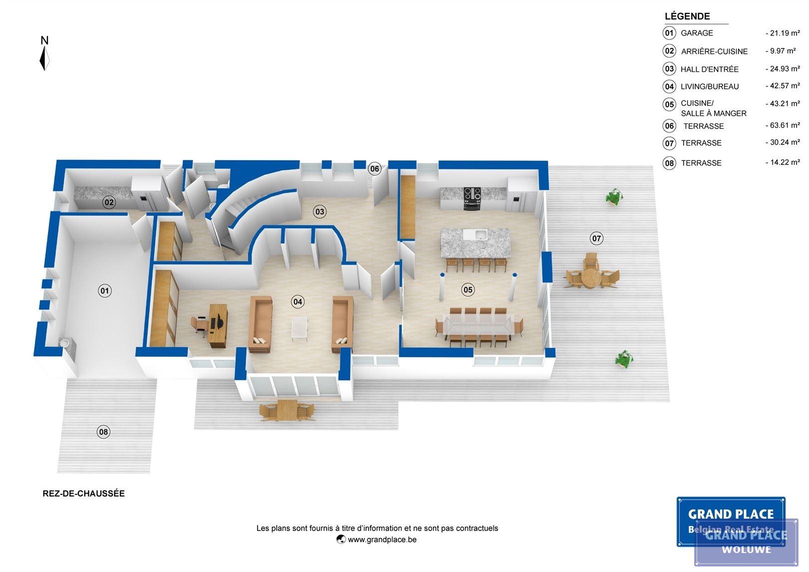 Image 3 : Villa contemporaine à 1150 WOLUWÉ-SAINT-PIERRE (Belgique) - Prix 1.875.000 €