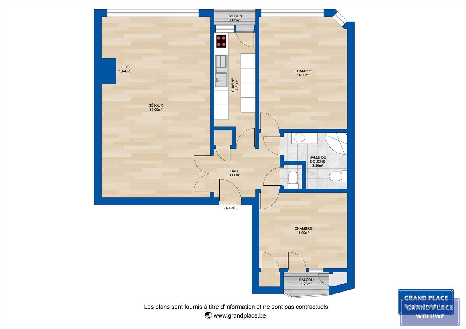 Image 11 : Appartement à 1200 WOLUWE-SAINT-LAMBERT (Belgique) - Prix 270.000 €