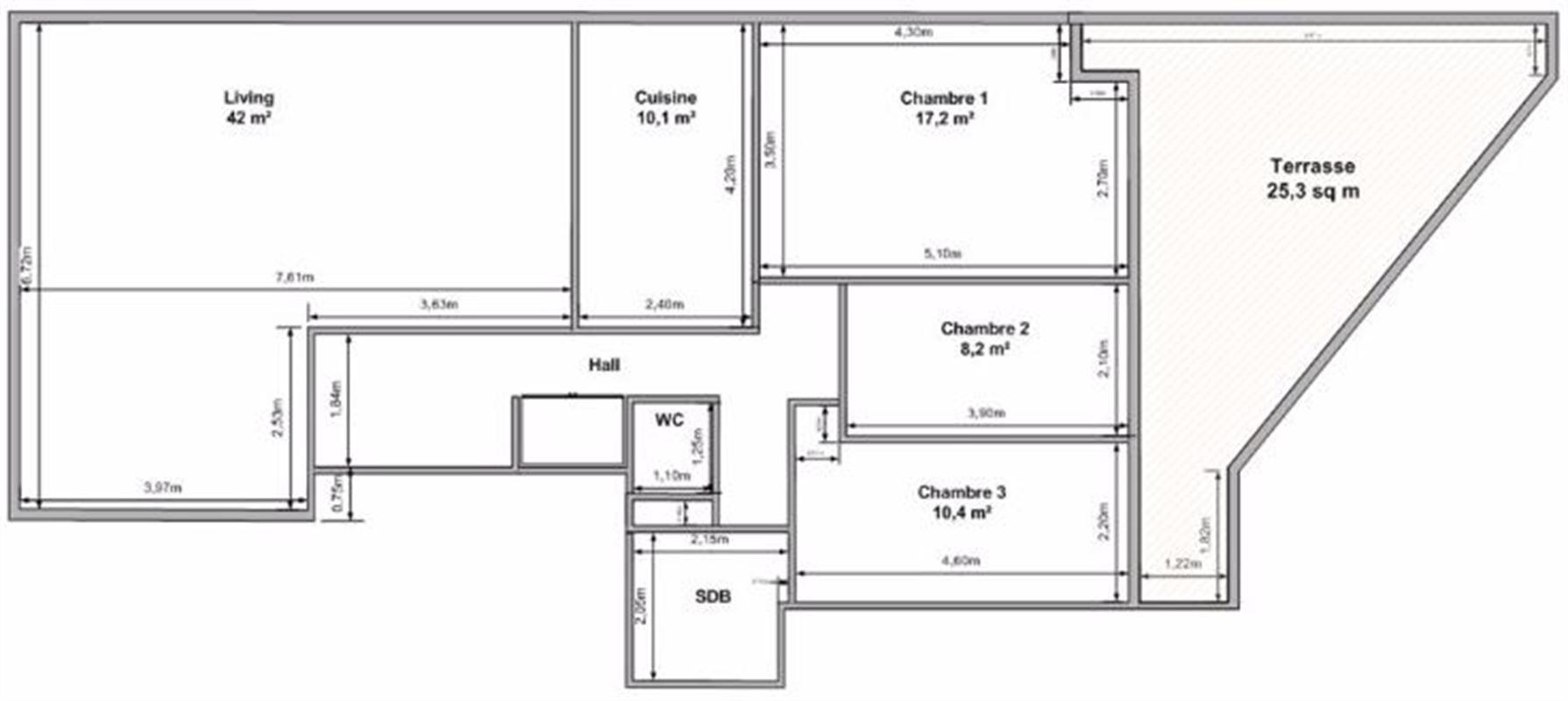 Image 8 : Appartement à 1150 WOLUWE-SAINT-PIERRE (Belgique) - Prix 1.420 €