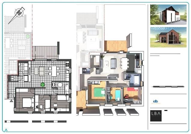 Nouvel appartement avec terasse, cave et poss. empl. parking à MALONNE