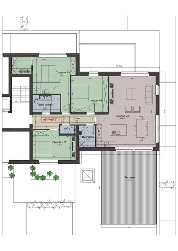 Image 2 : Appartement à 4682 HEURE-LE-ROMAIN (Belgique) - Prix 350.000 €