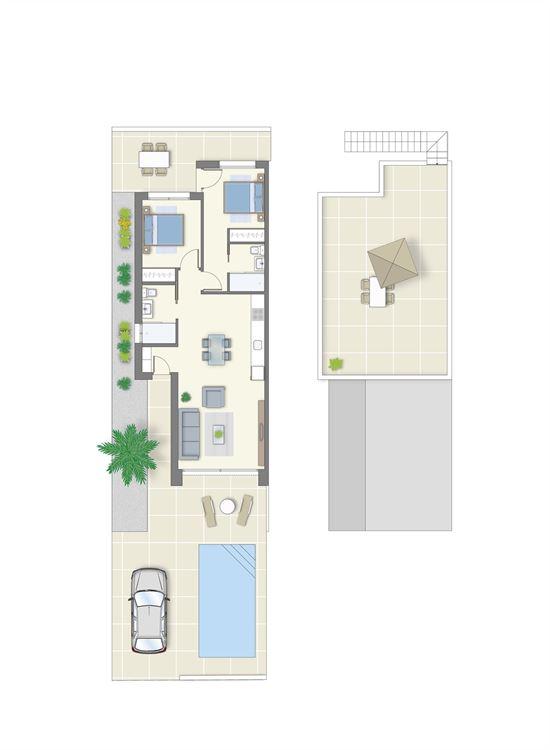 Foto 4 : nieuwbouw woning te 03178 BENIJÓFAR (Spanje) - Prijs € 209.900