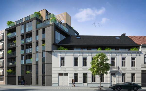 Den Botanikken Hof biedt een gevarieerd woonaanbod pal in het centrum van Aalst. Den Botannik is het nieuwbouwvolume. De strakke architectuur in donke ...