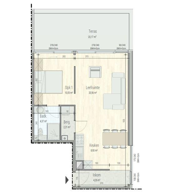 Appartement te Aalst
